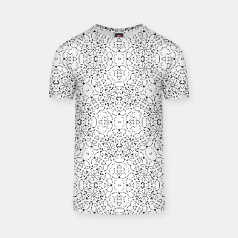 Miniatur Black and White Modern Ornate Pattern T-shirt, Live Heroes