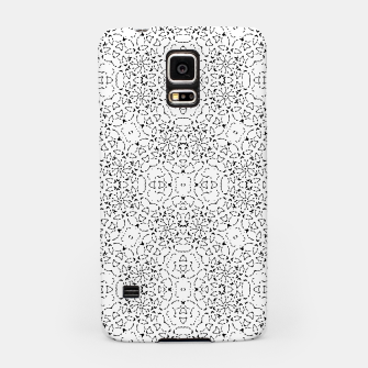 Miniatur Black and White Modern Ornate Pattern Samsung Case, Live Heroes