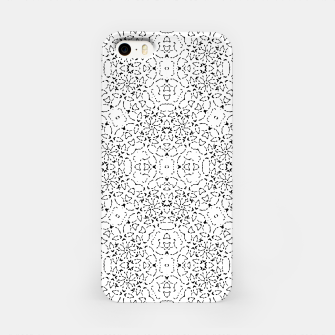 Miniatur Black and White Modern Ornate Pattern iPhone Case, Live Heroes