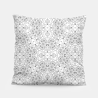 Miniatur Black and White Modern Ornate Pattern Pillow, Live Heroes