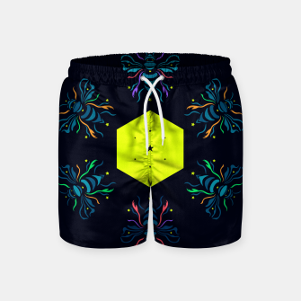 Thumbnail image of Bee the future by #Bizzartino Swim Shorts, Live Heroes