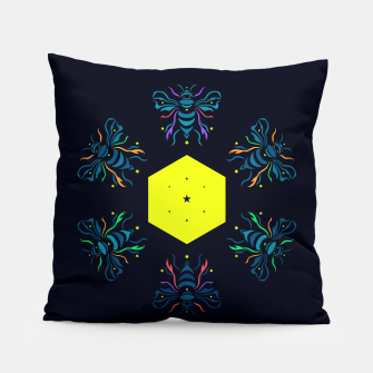 Bee the future by #Bizzartino Pillow thumbnail image