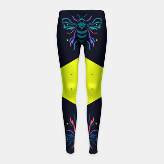 Thumbnail image of Bee the future by #Bizzartino Girl's leggings, Live Heroes