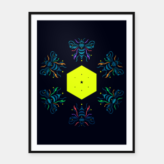 Bee the future by #Bizzartino Framed poster thumbnail image