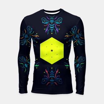 Thumbnail image of Bee the future by #Bizzartino Longsleeve rashguard , Live Heroes
