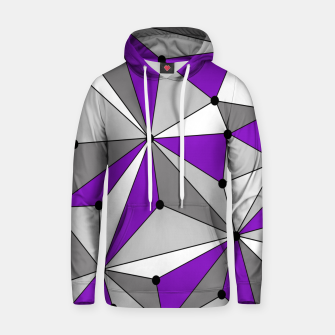 Abstract geometric pattern - gray and purple. Hoodie thumbnail image