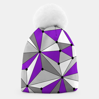 Abstract geometric pattern - gray and purple. Beanie thumbnail image