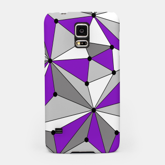 Abstract geometric pattern - gray and purple. Samsung Case thumbnail image