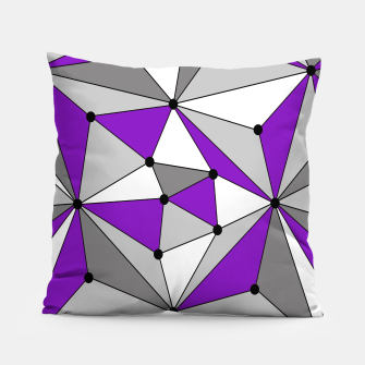 Abstract geometric pattern - gray and purple. Pillow thumbnail image