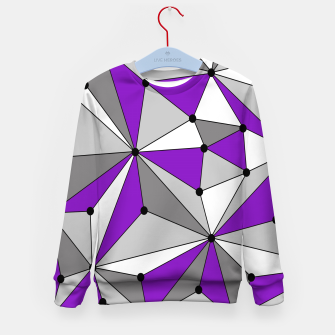 Abstract geometric pattern - gray and purple. Kid's sweater thumbnail image