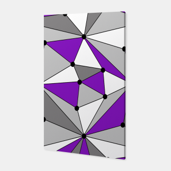 Abstract geometric pattern - gray and purple. Canvas thumbnail image