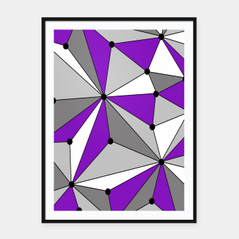 Abstract geometric pattern - gray and purple. Framed poster thumbnail image