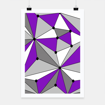 Abstract geometric pattern - gray and purple. Poster thumbnail image