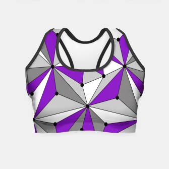 Miniaturka Abstract geometric pattern - gray and purple. Crop Top, Live Heroes