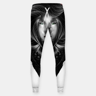 Thumbnail image of Trilia Red Nebula Portrait BLKGS Orange Sun Sweatpants, Live Heroes