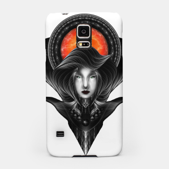 Thumbnail image of Trilia Red Nebula Portrait BLKGS Orange Sun Samsung Case, Live Heroes