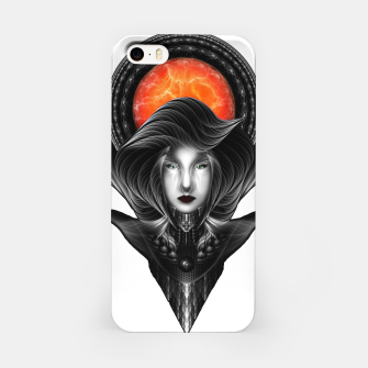 Thumbnail image of Trilia Red Nebula Portrait BLKGS Orange Sun iPhone Case, Live Heroes