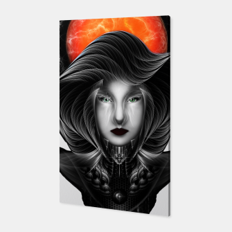 Thumbnail image of Trilia Red Nebula Portrait BLKGS Orange Sun Canvas, Live Heroes