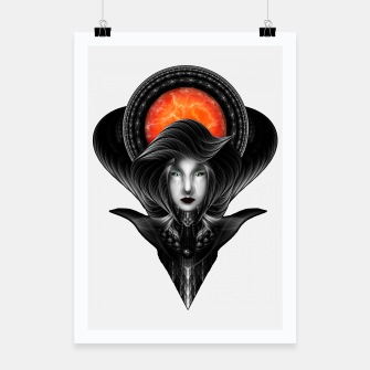 Thumbnail image of Trilia Red Nebula Portrait BLKGS Orange Sun Poster, Live Heroes