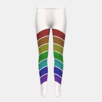 Thumbnail image of Retro Rainbow Girl's leggings, Live Heroes