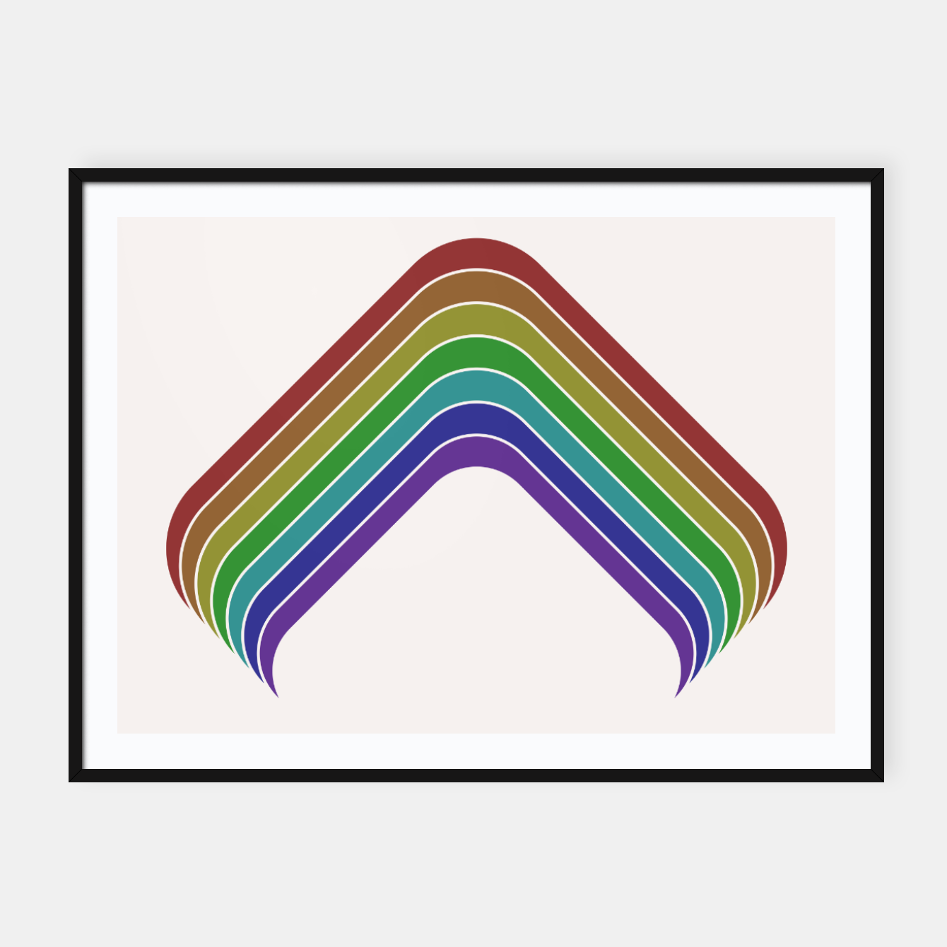 Image of Retro Rainbow Framed poster - Live Heroes