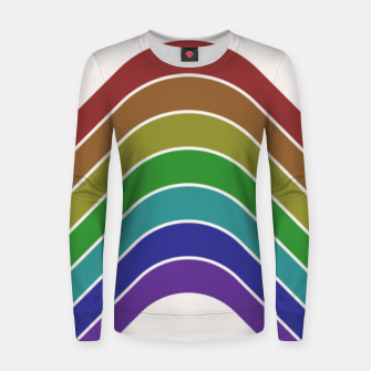 Thumbnail image of Retro Rainbow  Women sweater, Live Heroes