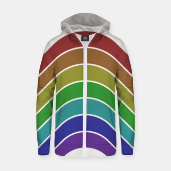 Thumbnail image of Retro Rainbow  Zip up hoodie, Live Heroes