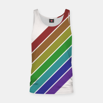 Thumbnail image of Retro Rainbow  Tank Top, Live Heroes