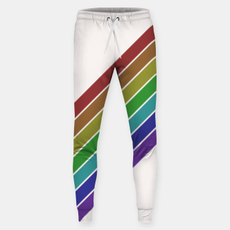 Thumbnail image of Retro Rainbow  Sweatpants, Live Heroes