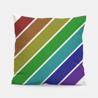 Thumbnail image of Retro Rainbow  Pillow, Live Heroes