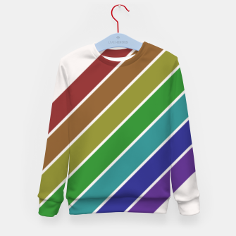Thumbnail image of Retro Rainbow  Kid's sweater, Live Heroes
