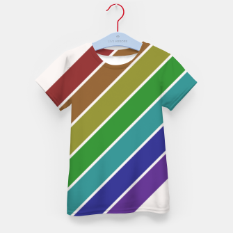 Thumbnail image of Retro Rainbow  Kid's t-shirt, Live Heroes