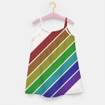 Thumbnail image of Retro Rainbow  Girl's dress, Live Heroes