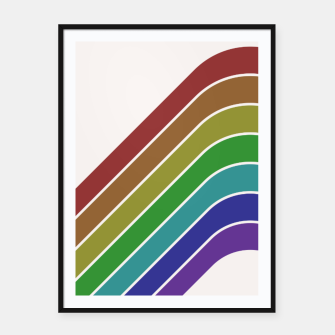 Thumbnail image of Retro Rainbow  Framed poster, Live Heroes