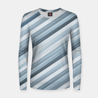 Miniatur Modern Tech Stripes Pattern Women sweater, Live Heroes