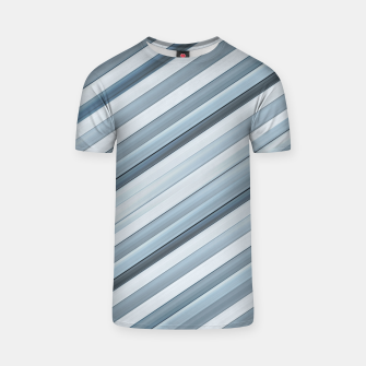 Miniatur Modern Tech Stripes Pattern T-shirt, Live Heroes