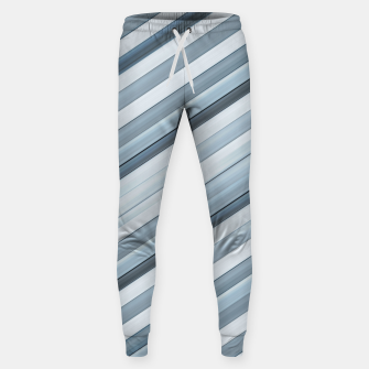 Miniatur Modern Tech Stripes Pattern Sweatpants, Live Heroes