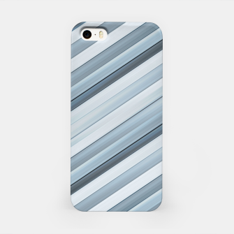 Miniatur Modern Tech Stripes Pattern iPhone Case, Live Heroes