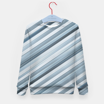Miniatur Modern Tech Stripes Pattern Kid's sweater, Live Heroes