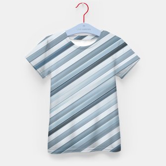 Miniatur Modern Tech Stripes Pattern Kid's t-shirt, Live Heroes