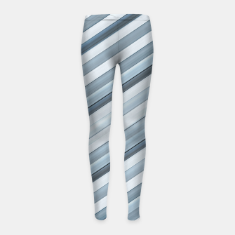 Miniaturka Modern Tech Stripes Pattern Girl's leggings, Live Heroes
