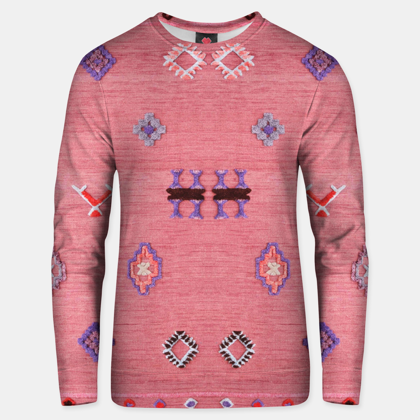 Image of Pink Boho Oriental Traditional Moroccan Style Unisex sweater - Live Heroes