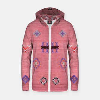 Thumbnail image of Pink Boho Oriental Traditional Moroccan Style Zip up hoodie, Live Heroes