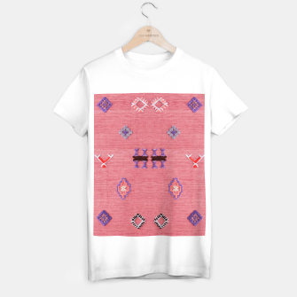 Thumbnail image of Pink Boho Oriental Traditional Moroccan Style T-shirt regular, Live Heroes