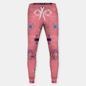 Thumbnail image of Pink Boho Oriental Traditional Moroccan Style Sweatpants, Live Heroes