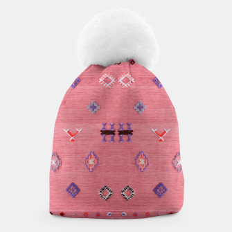 Thumbnail image of Pink Boho Oriental Traditional Moroccan Style Beanie, Live Heroes