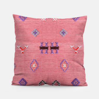 Thumbnail image of Pink Boho Oriental Traditional Moroccan Style Pillow, Live Heroes