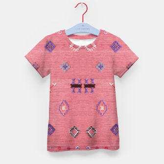 Thumbnail image of Pink Boho Oriental Traditional Moroccan Style Kid's t-shirt, Live Heroes