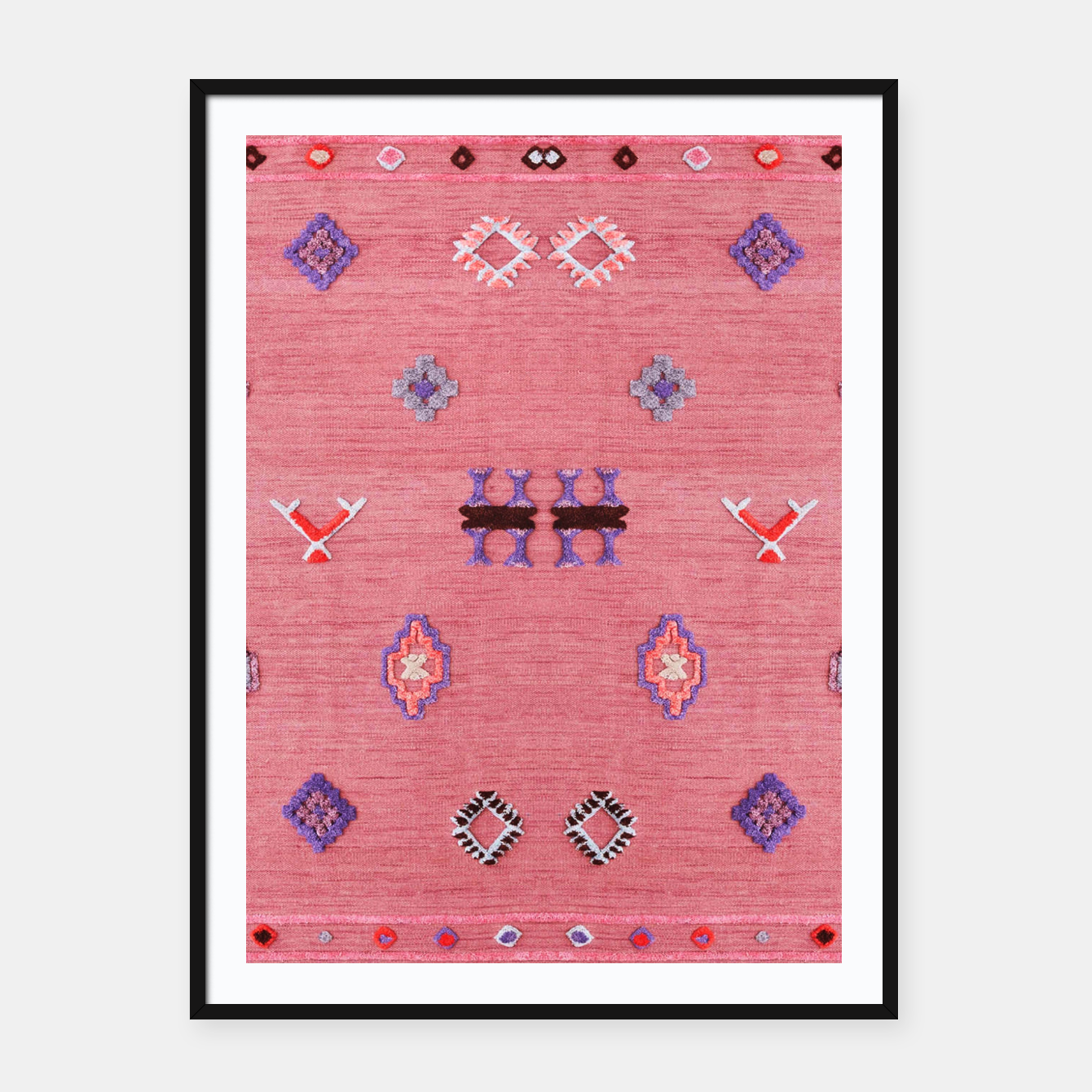 Foto Pink Boho Oriental Traditional Moroccan Style Framed poster - Live Heroes