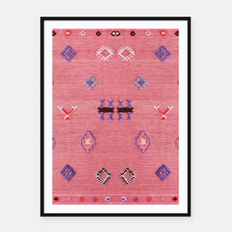 Miniatur Pink Boho Oriental Traditional Moroccan Style Framed poster, Live Heroes